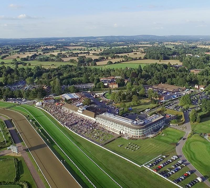 ariel view of lingfield park