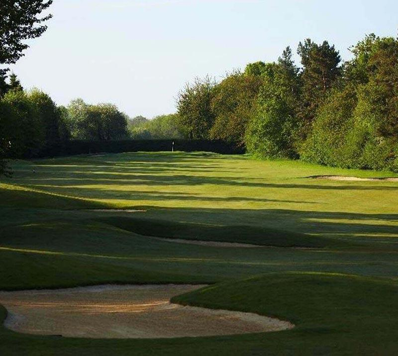 view of green at lingfield golf course