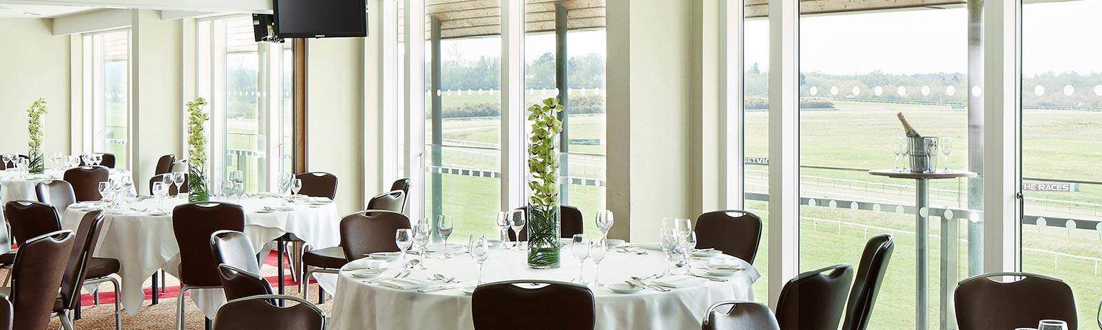 Marriott Suites at Lingfield Park overlooking the racecourse