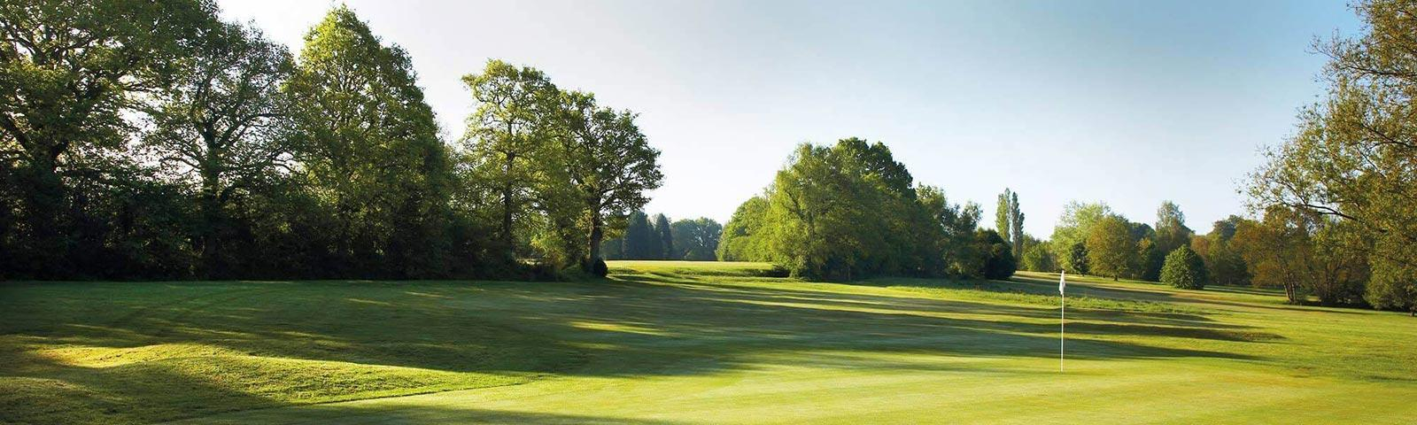 View of the golf course at Lingfield Park Resort.