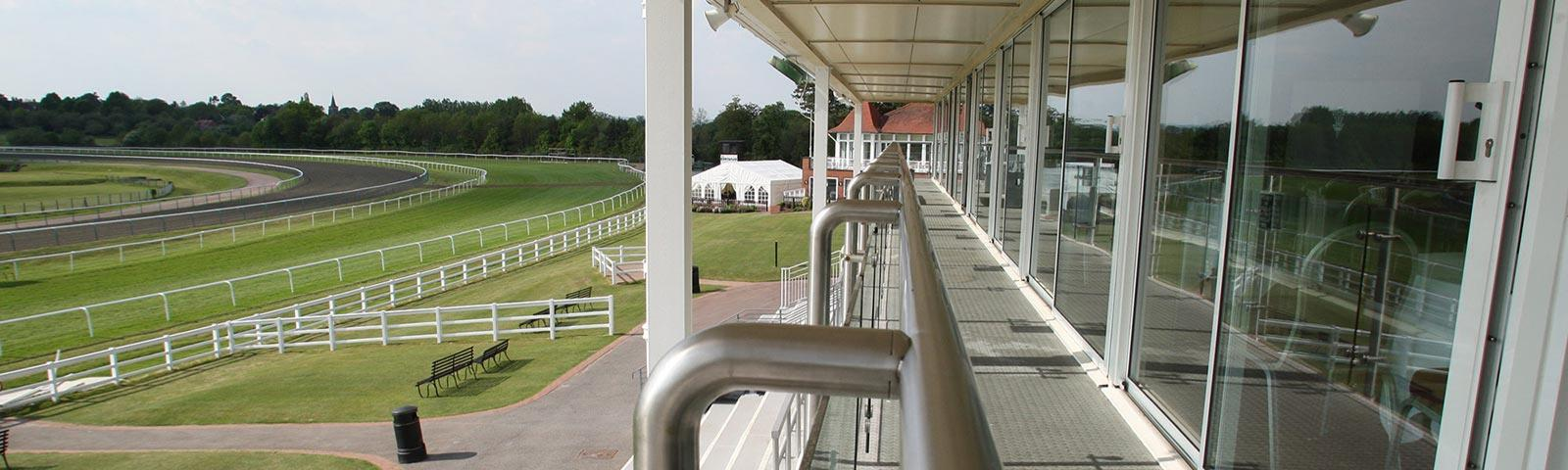A view from the Grandstand at Lingfield Park.