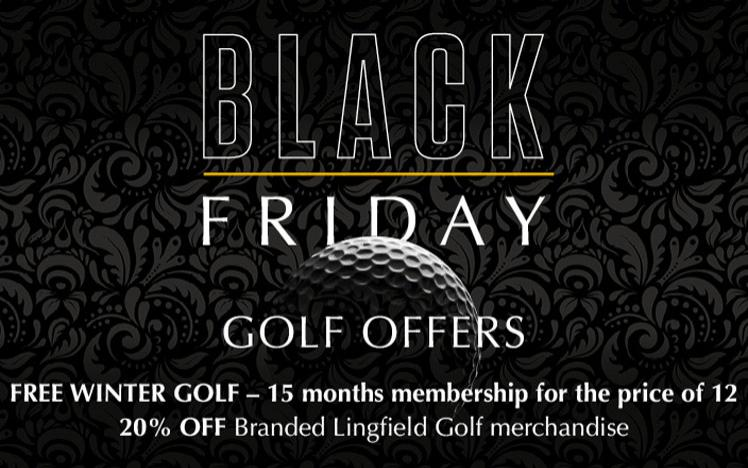 Promotional banner featuring black friday offers.