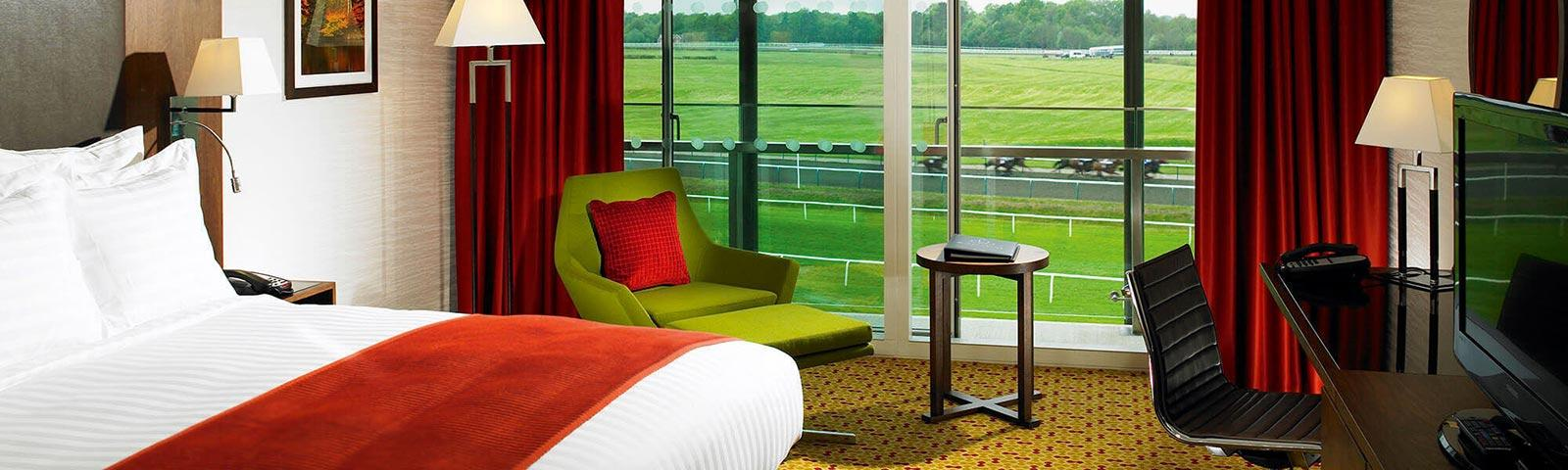 Example interior of a room at the Marriott hotel at Lingfield Park Resort.
