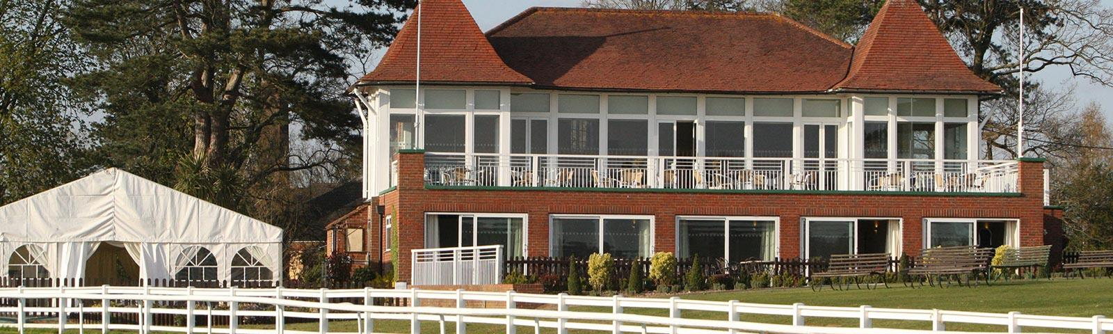A view of the upper eclipse suite at Lingfield Park Racecourse.