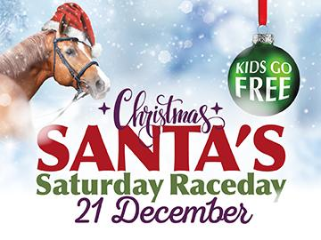 Santa's Raceday at Lingfield Park, Raceday, kids free entry, Free presents for children. Santa Grotto. Saturday December 21.